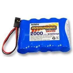 Overlander 6.0v 2000mAh NiMh Eneloop Receiver Battery - Flat (457)