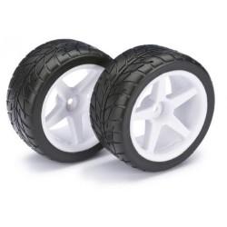 """Absima 1/10 Wheel + Tyre Set """"Street"""" Rear (2)"""