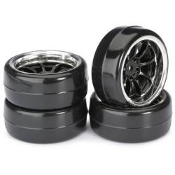 Absima Wheel Set Drift LP 9 Spoke black/chrome 1:10 (4 pcs)(2510043)