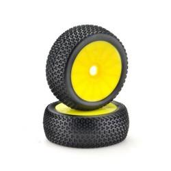 Absima Wheel Set Buggy Disc yellow 1:8 x2 (2520021)