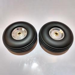 AlsZone Rubber PU Wheels 3-inch (Ali Hub) (2 per pack) (HY006-03205)