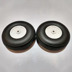 AlsZone Ultra-Lite Rubber Pu Wheels 3.5-inch (Plastic Hub)(2 per pack) (HY006-03610)