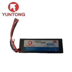 Yuntong 4000mAh 2S 7.4v 35C LiPo with Deans (YT7043125E)