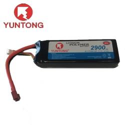 Yuntong 2900mAh 3S 11.1v 45C LiPo with Deans (YT7538110P)