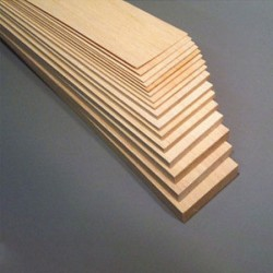 "Balsa Sheet 1/16 x 3 x 36""  (1.5 x 75 x 915mm) (3BW31)"