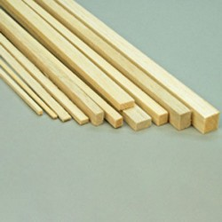 "Balsa Strip 1/2 x 1/2 x 36""  (12 x 12 x 915mm) (L280)"