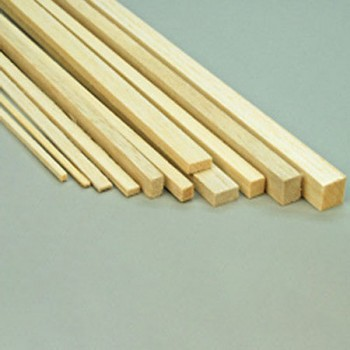 """Balsa Strip 1/4 x 1/4 x 36""""  (6.5 x 6.5 x 915mm) (L260)"""