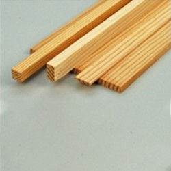"Strip Spruce 3/16 x 1/4 x 35.5""  (5 x 6.5 x 900mm) (3SP253)."