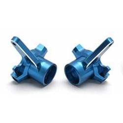 Team Associated RC8/T/Sc8 Cnc Alloy Steering Blocks - Blue (AS89380)