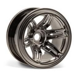 Axial Racing 2.2 Rockster Beadlocks - Black Chrome (AX8095)