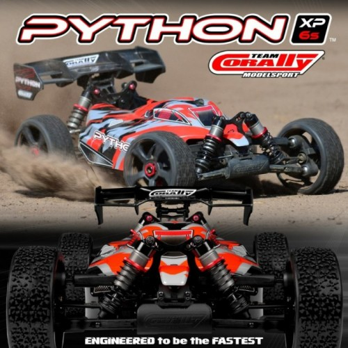 CORALLY PYTHON XP 6S BUGGY 18 SWB BRUSHLESS RTR C 00181