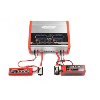 TEAM CORALLY CHARGER ECLIP S 2400 DUO AC/DC 400W POWER (C-48491)