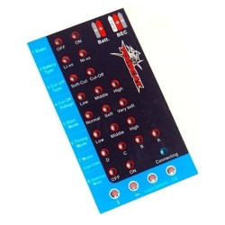 TOMCAT SKYLORD ESC PROGRAMMING CARD (DTM-1001)