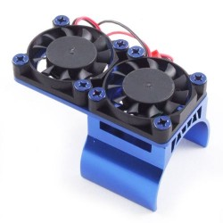 Fastrax Blue Aluminium Twin Fan Motor Heatsink Unit (FAST36-1)
