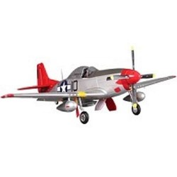 FMS P51 MUSTANG ARTF w/RETRACT w/o TX/RX/BAT - RED TAIL V8 (FS0179)