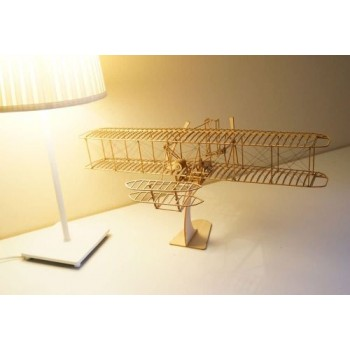 Dancing Wings VC01 Wright Flyer-I 500mm  (Wood box) Scale 1/18 (VC01)