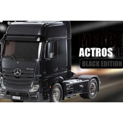 Tamiya Mercedes-Benz Actros 1851 Gigaspace (Black) 1:14 RC Tractor Truck (Kit 56342)