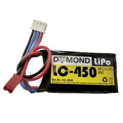DYMOND 450mAh 3S 30C LIPO w/JST (HSF04503S30)