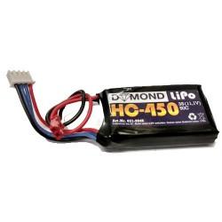 DYMOND 450mAh 3S 50C LIPO w/JST (HSF04503S50)