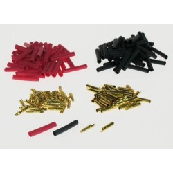 2mm Gold Connector Bulk (50 Pairs + Shrink 4409120)