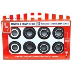 1:25 M&H Drag Slick Tire Pack (Pack of 8 tires 4 styles AMTPP001) (AMTPP001)