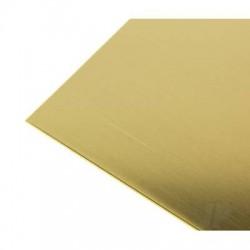 K&S [250] .005 (35ga) 10x4in Brass Sheet (1 pc) (KNS250)