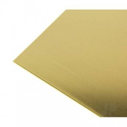 K&S [252] .015 (26ga) 10x4in Brass Sheet (6pcs) (KNS252)