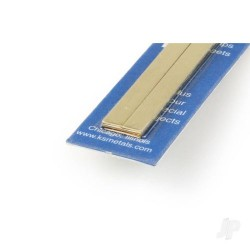 K&S [5078] 12x.32in Bendable Brass Strip 1/4 1/2 (4pcs) (KNS5078)
