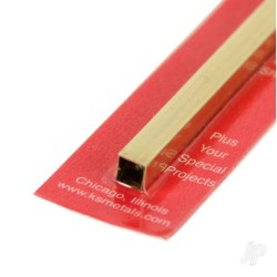 K&S [8155] 1/4in 12in Square Brass Tube .014 Wall (KNS8155)
