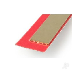 K&S [9842] .5x18mm 300mm Brass Strip (3pcs) (KNS9842)