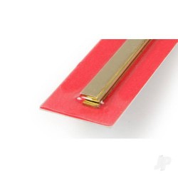 K&S [9843] 1x6mm 300mm Brass Strip (3pcs) (KNS9843)
