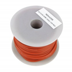 Silicone Wire, 16ga, 100ft Red (RDNA0358)