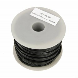 Radient Silicone Wire 16ga 100ft Black (RDNA0359)