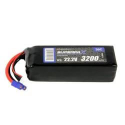 LiPo 6S 3200mAh 22.2V 30C EC3 (RDNB32006S30)