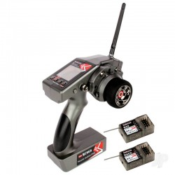 RadioLink RC6GS COMBO 2.4GHz 6-Chl Tx with 1x R6FG (Gyro Rx) and 1x R6F (Standard Rx)(RLKT061000)