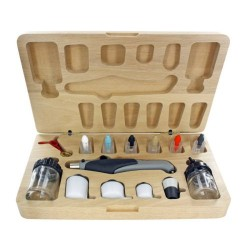 Deluxe Resin Airbrush Set/Wood Box (TES4709T)
