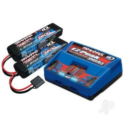 Traxxas Battery / charger completer pack (includes #2972 Dual iD charger (1pc) #2869X 7600mAh 7.4V 2-cell 25C LiPo battery (2