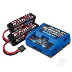 Traxxas iD Completer Pack with 1x EZ-Peak Live Dual Charger & 2x LiPo 4S 6700mAh Battery (TRX2997T)