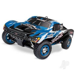Traxxas BLUE Slayer Pro 4X4: 1:10 Scale Nitro-Powered 4WD Short Course Racing Truck (TRX59076-3-BLUE)