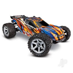 Traxxas Orange Rustler 4X4 VXL: 1:10 Scale Stadium Truck. Ready-to-Race (TRX67076-4-ORNG)