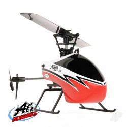 Twister Ninja 250 Helicopter with Co-Pilot Assist 6-Axis Stabilisation and Altitude Hold (Red) (TWST1001R)