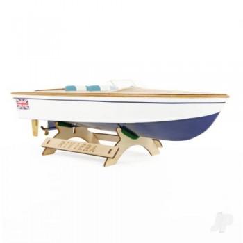 The Wooden Model Boat Company Riviera Motor Boat Kit 400mm (WBC1000)