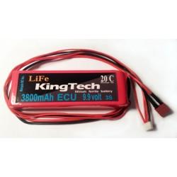 KingTech 3800mAh 9.9v LiFe (Lithium Ferrite)  Battery (3800/9.9)