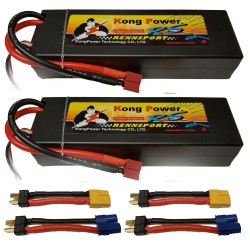 AL'S COMBO KONG POWER 2x 5000mAh 2S 35C Hard Case with Deans With XT-60 / EC3 Adapters  (ALSCOMBO-KC-5035-2)