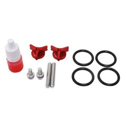 Secraft Wing Bolts M6 V2 (Al Screw Lock Type) (Red) (SEC257)