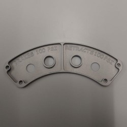 Dreamworks Air Gauge / Fill Valve Mounting Plate Only (Large) contoured Mounting Plate (ALS171845)