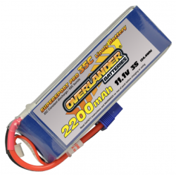 Overlander 11.1v 2200mAh 35C Li-Po Battery with EC3 (2647)