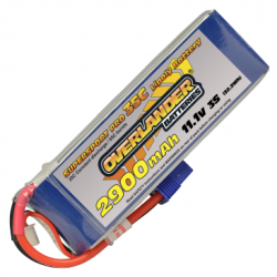 Overlander 2900mAh 3S 11.1v 35C LiPo Battery with EC3 (2776)