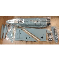 PREOWNED Freewing Eurofighter Typhoon Version 2 with 12 Blade 90mm Metal EDF and 360 Degree Thrust Vectoring PNP (PREOWNEDFJ3011)