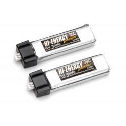 Hi-Energy Extreme 1S 160mAh 30C Li-Po (2pcs) (O-HE1S1P016030A)